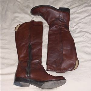 FRYE Paige Leather Riding Boots
